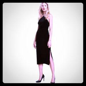 H&M black velvet cocktail dress